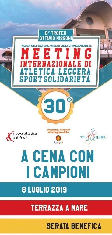 Banner Verticale Cena coi Campioni 2019